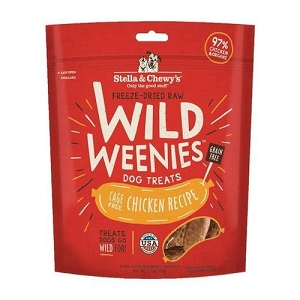 Stella & Chewy's Freeze Dried Wild Weenies Chicken Recipe Dog Treats