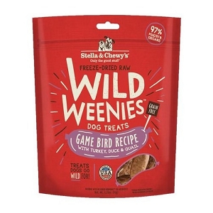 Stella & Chewy's Freeze Dried Wild Weenies Game Bird Recipe Dog Treats