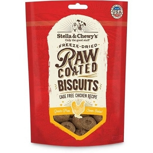 Stella & Chewy's Raw Coated Chicken Biscuits Dog Treats