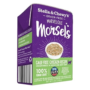 Stella & Chewy Marvelous Morsels Cat Wet Cage-Free Chicken 5.5oz