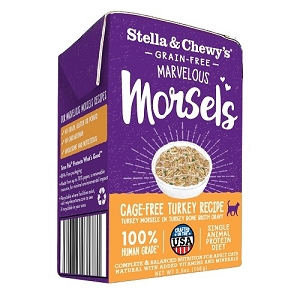 Stella & Chewy Marvelous Morsels Cat Wet Cage-Free Turkey 5.5oz