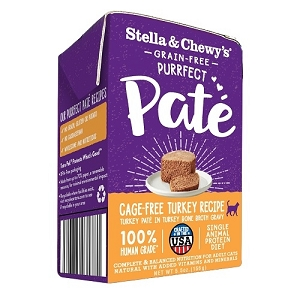 Stella & Chewy's Purrfect Pate Cage Free Turkey Recipe 5.5oz