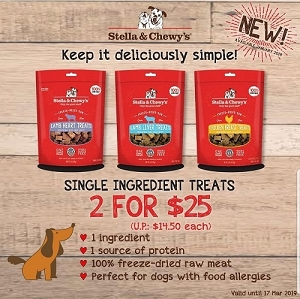 [Launch Promo] Stella & Chewy's Freezed Dried Treats - 2 FOR $25