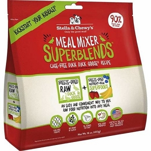 Stella & Chewy's Duck Duck Goose Superblends Freeze Dried Meal Mixer