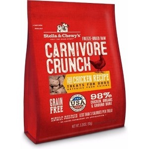 Stella & Chewy's Freeze Dried Carnivore Crunch Chicken Recipe Dog Treats 3.25oz