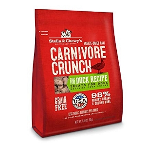 Stella & Chewy's Freeze Dried Carnivore Crunch Duck Recipe Dog Treats 3.25oz