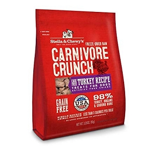 Stella & Chewy's Freeze Dried Carnivore Crunch Turkey Recipe Dog Treats 3.25oz