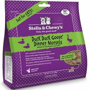 Stella & Chewy's Freeze Dried Duck Duck Goose Dinner Morsels Cat Food