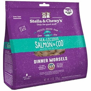 Stella & Chewy's Freeze Dried Sea-licious Salmon & Cod Dinner Morsels Cat Food