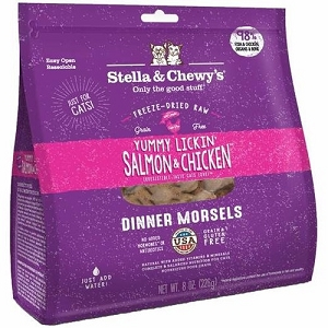 Stella & Chewy's Freeze Dried Yummy Lickin' Salmon & Chicken Dinner Morsels Cat Food