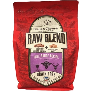 [PROMO] Stella & Chewy's Raw Blend Free Range Recipe Raw Coated Baked Kibble + Freeze-Dried Meal Mixers