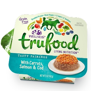 Wellness Trufood Tasty Pairings Carrots, Salmon & Cod Grain-Free Dog Food 5oz