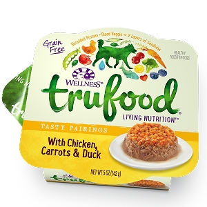 Wellness Trufood Tasty Pairings Chicken, Carrots & Duck Grain-Free Dog Food 5oz
