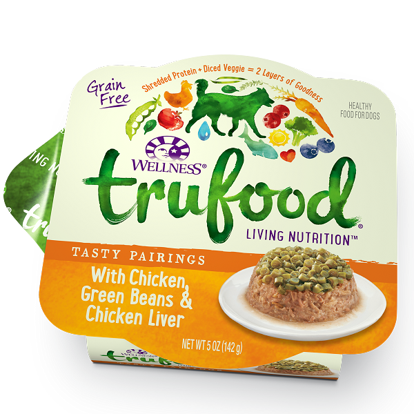 Wellness Trufood Tasty Pairings Chicken, Green Beans & Chicken Liver Grain-Free Dog Food 5oz