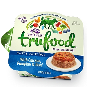 Wellness Trufood Tasty Pairings Chicken, Pumpkin & Beef Grain-Free Dog Food 5oz