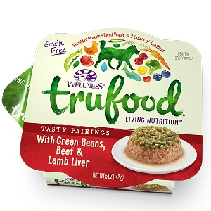 Wellness Trufood Tasty Pairings Green Beans, Beef & Lamb Liver Grain-Free Dog Food 5oz