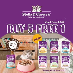 [NEW LAUNCH PROMO - Buy 5 Free 1] Stella & Chewy's Cat Carnivore Cravings