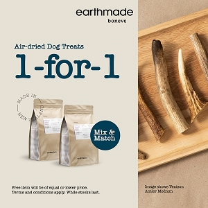 [1 For 1 Promo till 31st March] Earthmade Air Dried Treats
