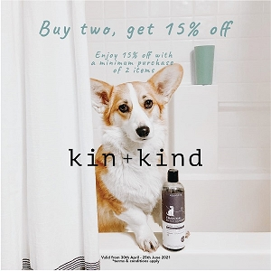 [Howlin Good Sale May 2021] Kin+Kind Shampoo & Conditioner 15% off