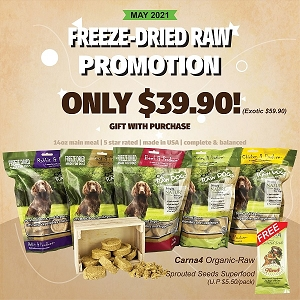 [May 2021 Promo] OC Raw Dog Freeze Dried Slider with FREE GIFT