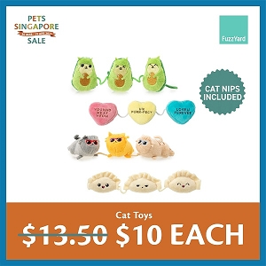 [PETS SINGAPORE SALE 2021 - $10 EACH] FuzzYard Cat Toys