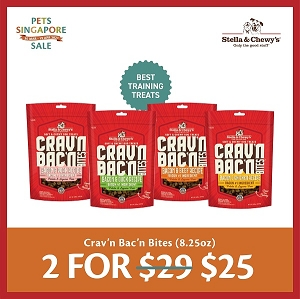 [PETS SINGAPORE SALE 2021 - 2 FOR $25] Stella & Chewy's Crav'n Bac'n Bites