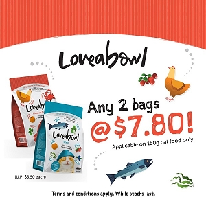 [MAY 2021 PROMO] Tasty Loveabowl Cat 150g x 2 at $7.80