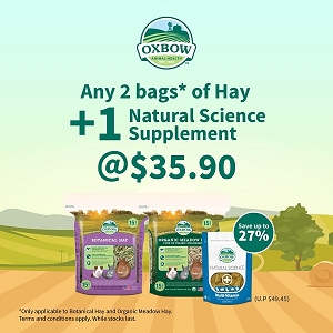 [MAY 2021 PROMO] Oxbow Hay & Supplement Set at $35.90