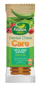 Happi Doggy - HARD Dental Chew Care - Hip & Joint Support 4inch (50pcs/box)