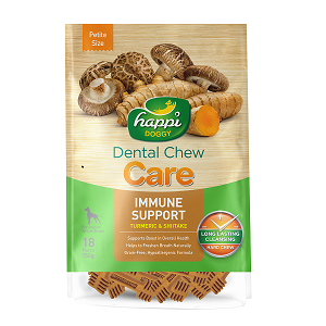 Happi Doggy Hard Dental Chew Care Immune Support