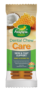 Happi Doggy - HARD Dental Chew Care - Skin & Coat Support 4inch (50pcs/box)