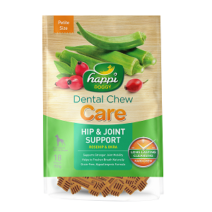 Happi Doggy Hard Dental Chew Care Hip & Joint Support