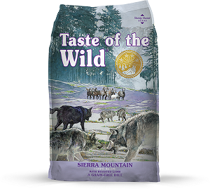 Taste Of The Wild Sierra Mountain Canine Recipe with Roasted Lamb Dry Dog Food