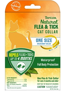 Tropiclean Natural Flea & Tick Collar for Cats (One Size)