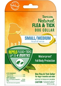 Tropiclean Natural Flea & Tick Collar for Small / Medium Dogs