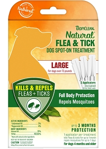 Tropiclean Natural Flea & Tick Spot On Treatment for Large Dogs