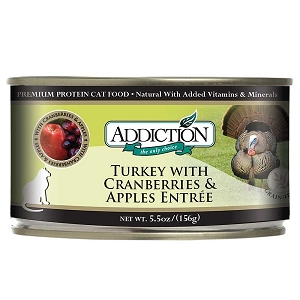 Addiction Canned Cat Food Turkey with Cranberries & Apples - Grain Free