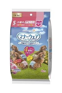 Unicharm Dog Diaper 4pcs Trial Pack (Female) Small
