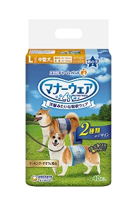 Unicharm Manner Wear Pet Diaper Male L40