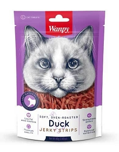 Wanpy Cat Soft & Oven-Roasted Duck Strips