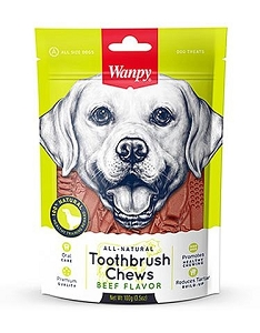 Wanpy All Natural Beef Toothbrush Chew Dog Treats