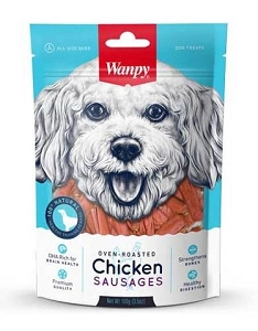 Wanpy Oven-Roasted Chicken Sausages Dog Treats