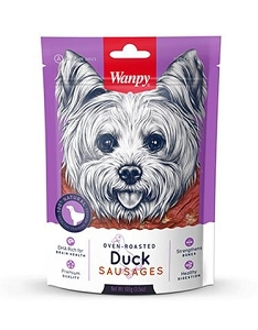 Wanpy Oven-Roasted Duck Sausages Dog Treats