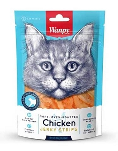 Wanpy Soft & Oven-Roasted Chicken Strips Cat Treats