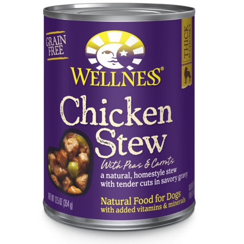 Wellness Canned Homestyle Stew Grain Free Chicken Stew with Peas & Carrots