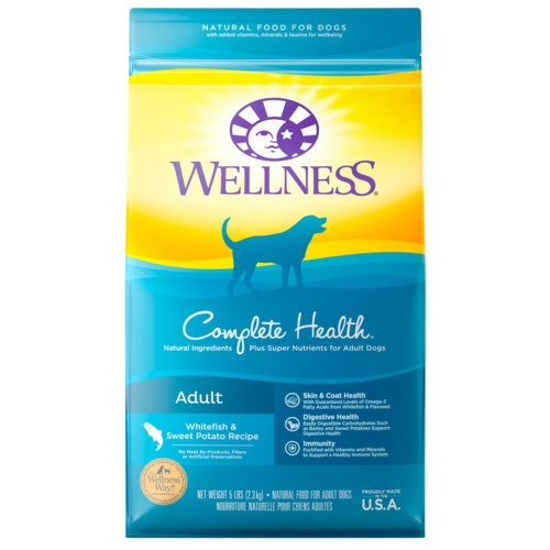 [UP TO 30% OFF w/ FREE GIFT] Wellness Complete Health Adult Whitefish & Sweet Potato Meal Dry Dog Food