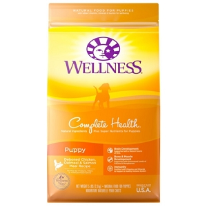 [UP TO 30% OFF w/ FREE DENTAL KIT for Large bag] Wellness Complete Health Puppy Dry Dog Food