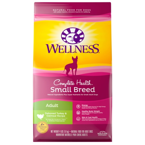 [UP TO 30% OFF w/ FREE GIFT] Wellness Complete Health Small Breed Adult Turkey & Oatmeal Formula Dry Dog Food