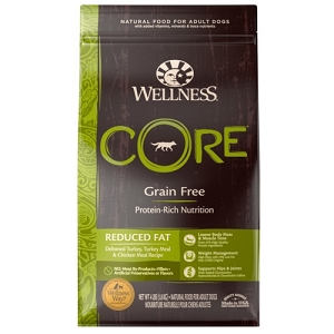 [UP TO 30% OFF w/ FREE TREATS for Large bag] Wellness Core Reduced Fat Dry Dog Food