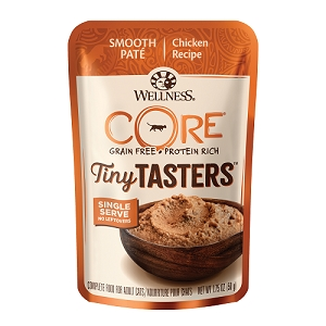 Wellness CORE Tiny Tasters Chicken Pate Grain-Free Cat Food Pouch